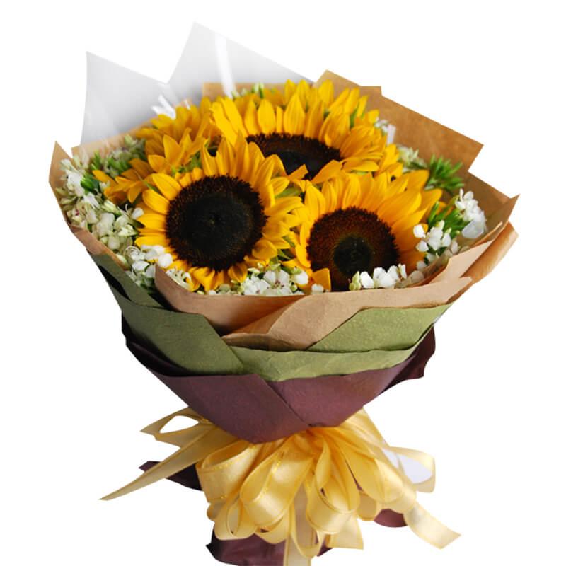 【巧繪網—網路花店】FS030118‧陽光情海=向日葵七朵‧生日禮物‧祝福花束