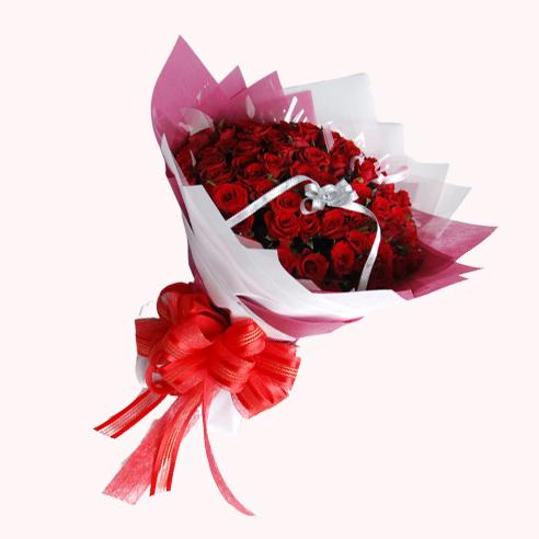 【巧繪網-FR001156 99朵紅玫瑰花束】最浪漫的情人節花禮/適合求婚情人節