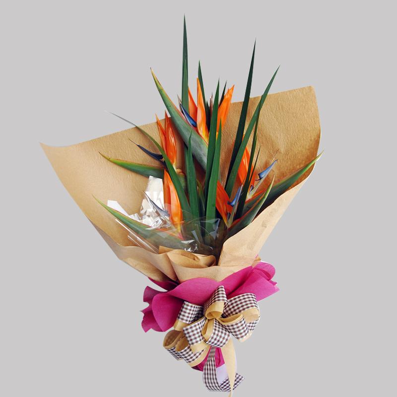 【巧繪網FZ030127】天堂鳥 情人節花束 線上花店 傳情花束 幸福常相伴