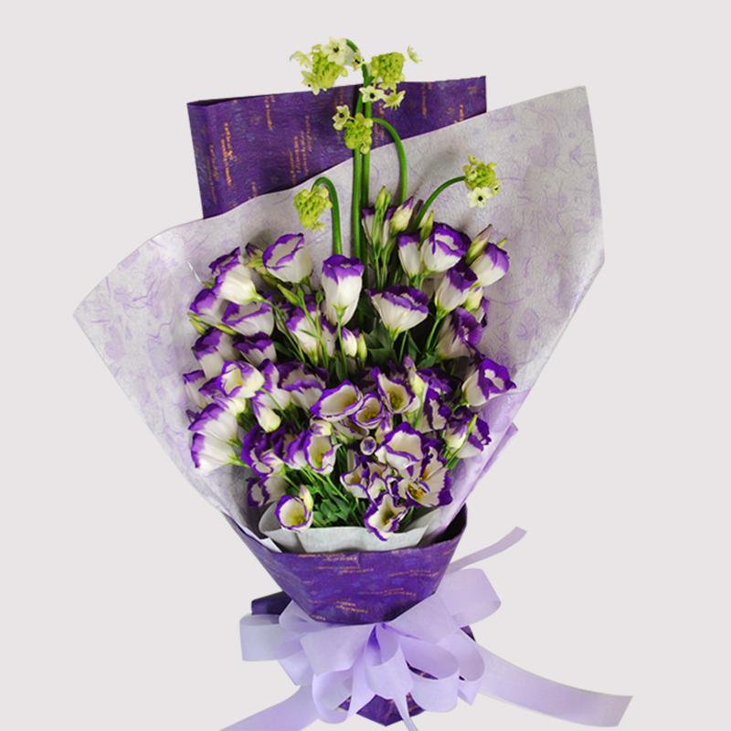 【巧繪網-FJ030032紫色邂逅】=桔梗花花束 / 網路花店 / 生日禮物 / 傳情花束