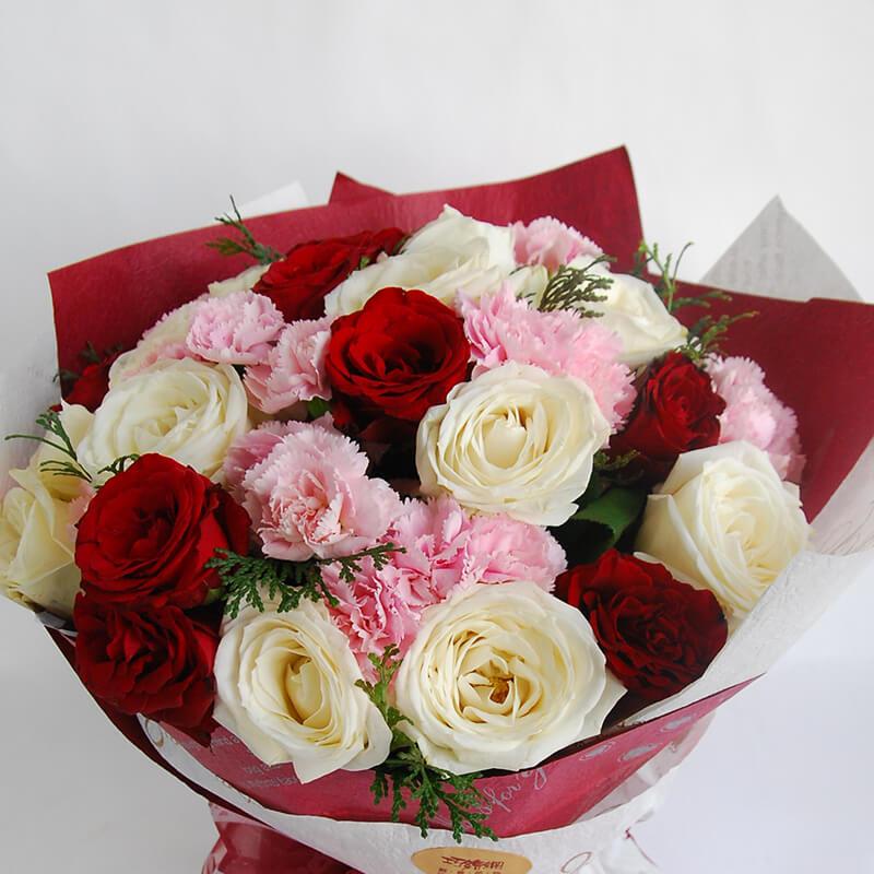 【巧繪網—情人浪漫花禮】FR050085‧繽紛重奏曲‧數十朵雙色玫瑰花束
