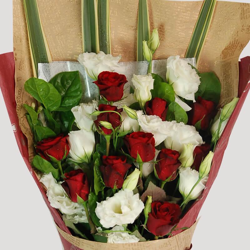 【巧繪網—七夕情人浪漫禮】FR540090‧花季=特級紅玫瑰花束,配當季新鮮花材