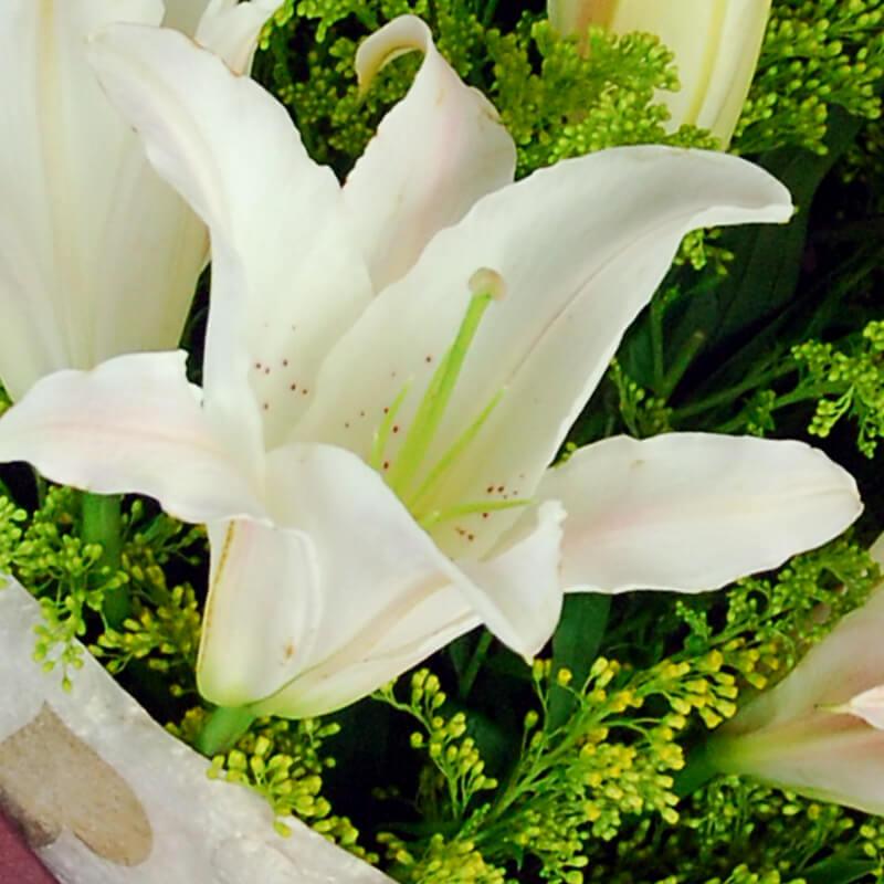 【巧繪網—感恩‧情人浪漫傳情花束】FL530065預感=5隻百合‧當季新鮮花材