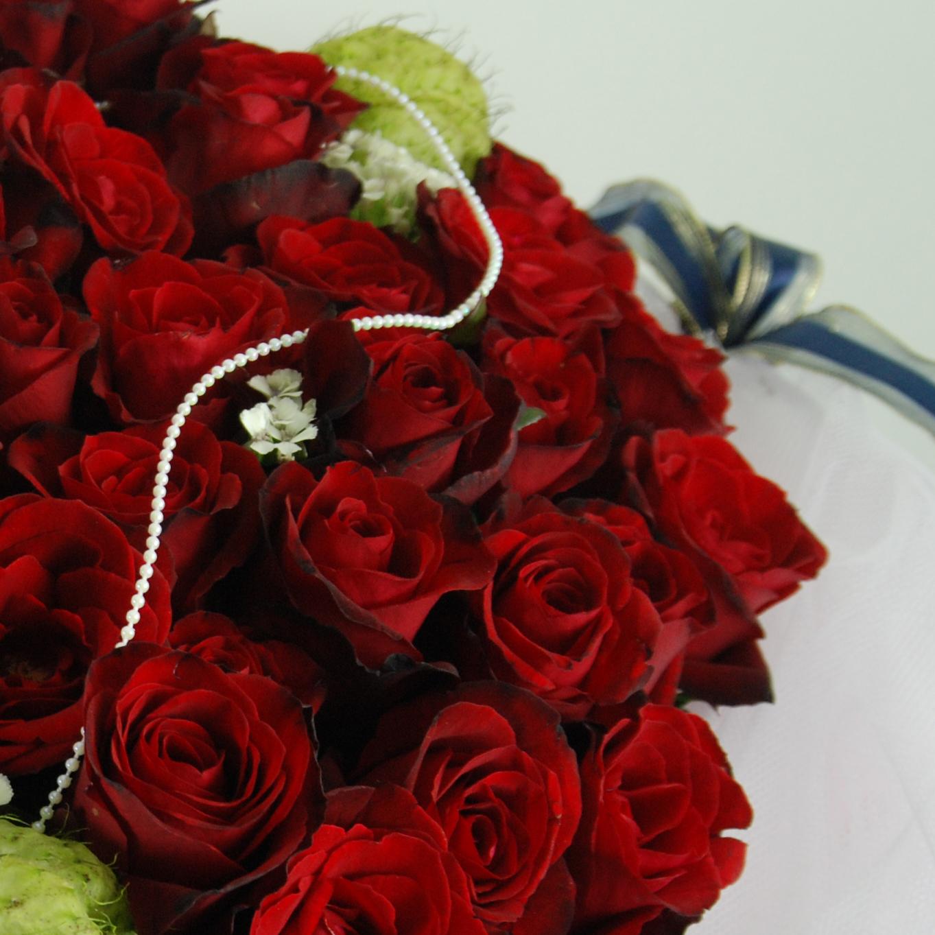 【巧繪網-FR001046繽紛飛舞】=99朵紅玫瑰+精緻包裝=告白花束/求婚花束/網路花店