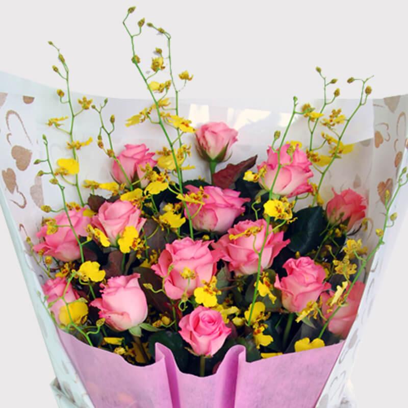 【巧繪網—網路花店】FRY040099單身快樂‧黛安娜玫瑰數十支‧敗犬女王玫瑰花束