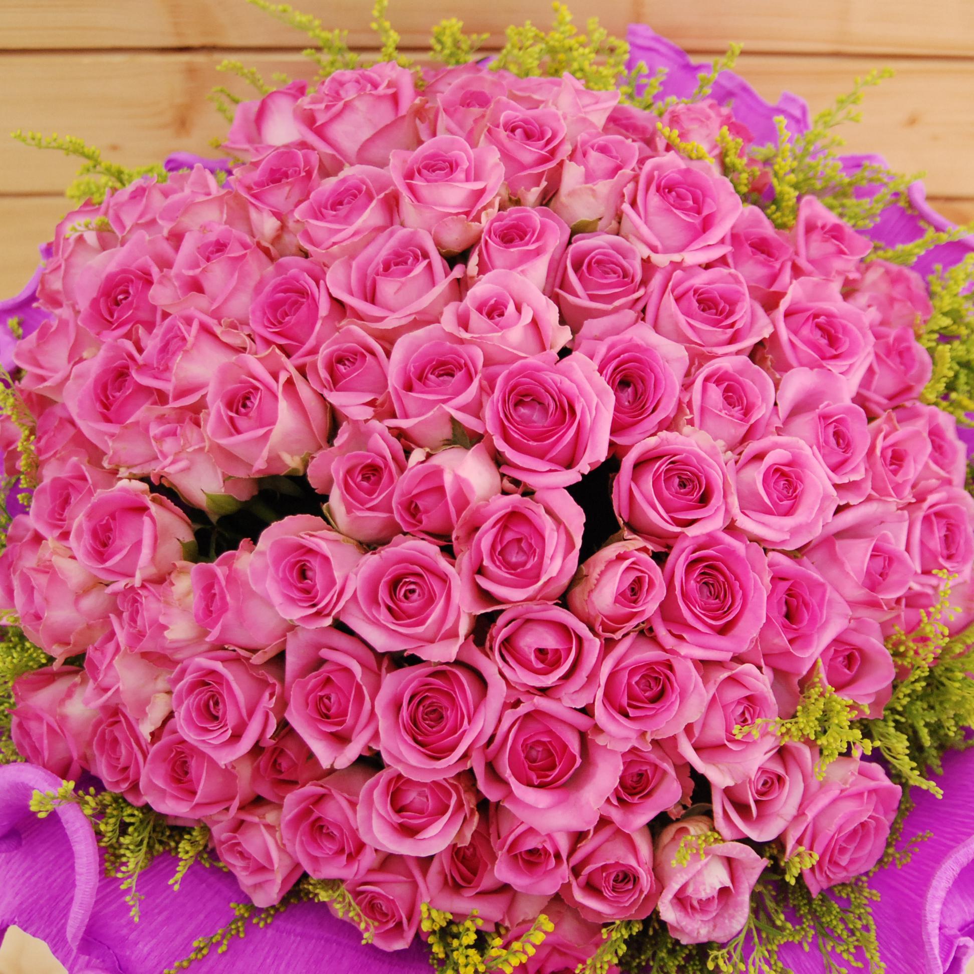 【巧繪網FR081411B 】情人最愛 99朵 紫玫瑰花束 情人節花束 七夕禮物
