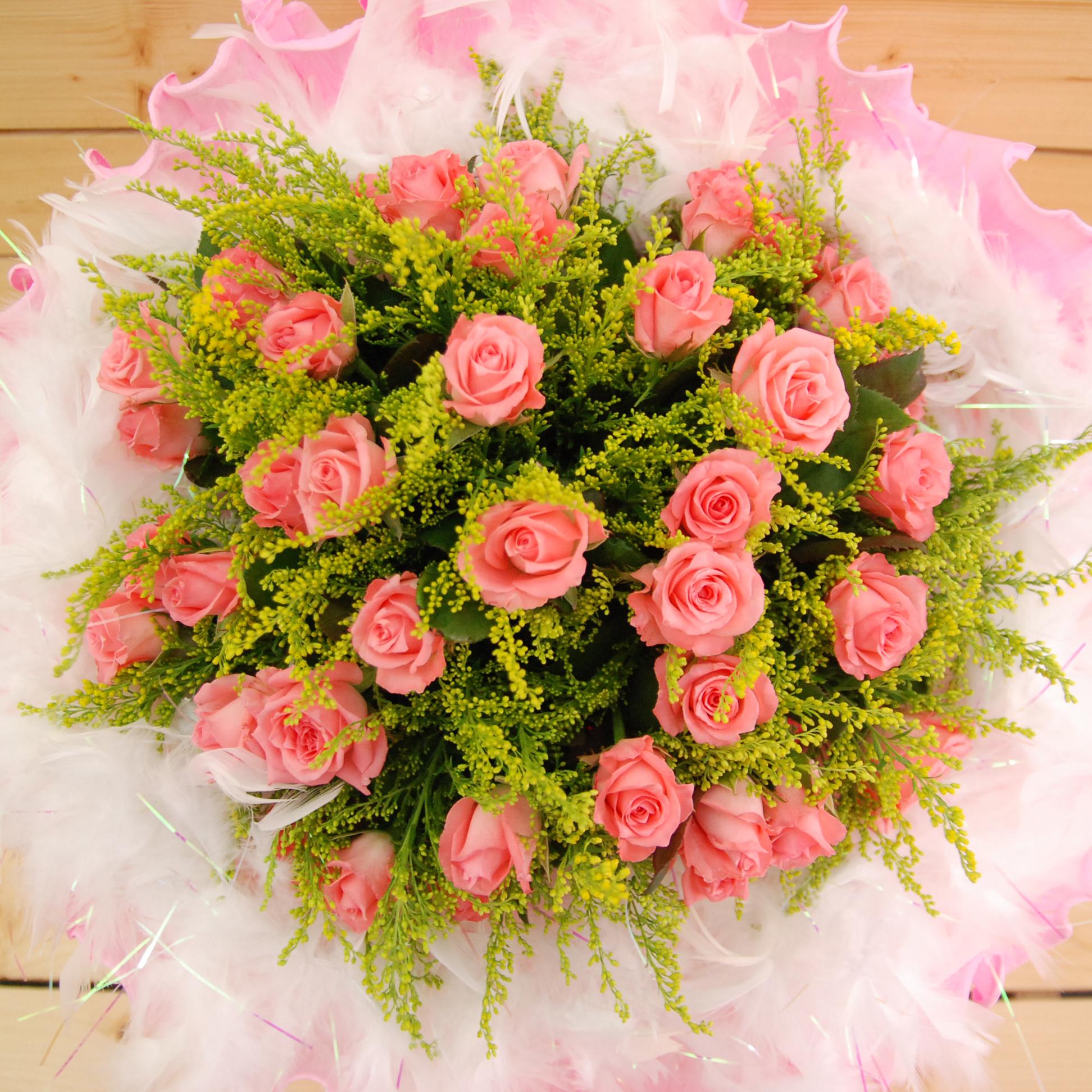 【巧繪網FR011412A 】情人最愛 50朵 粉玫瑰花束 情人節花束 七夕花禮 禮物 網路花店
