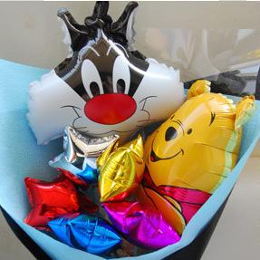 【巧繪網—獨家驚喜禮物】W020001 ‧迪士尼花園=童趣感造型氣球花束 ‧滿滿驚喜熱賣中