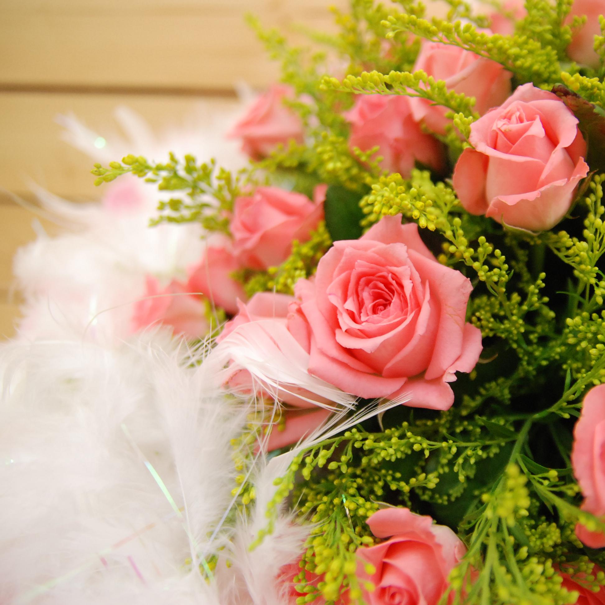 【巧繪網FR021412B 】情人最愛 50朵 粉玫瑰小熊花束 情人節花束 七夕花禮 禮物 網路花店