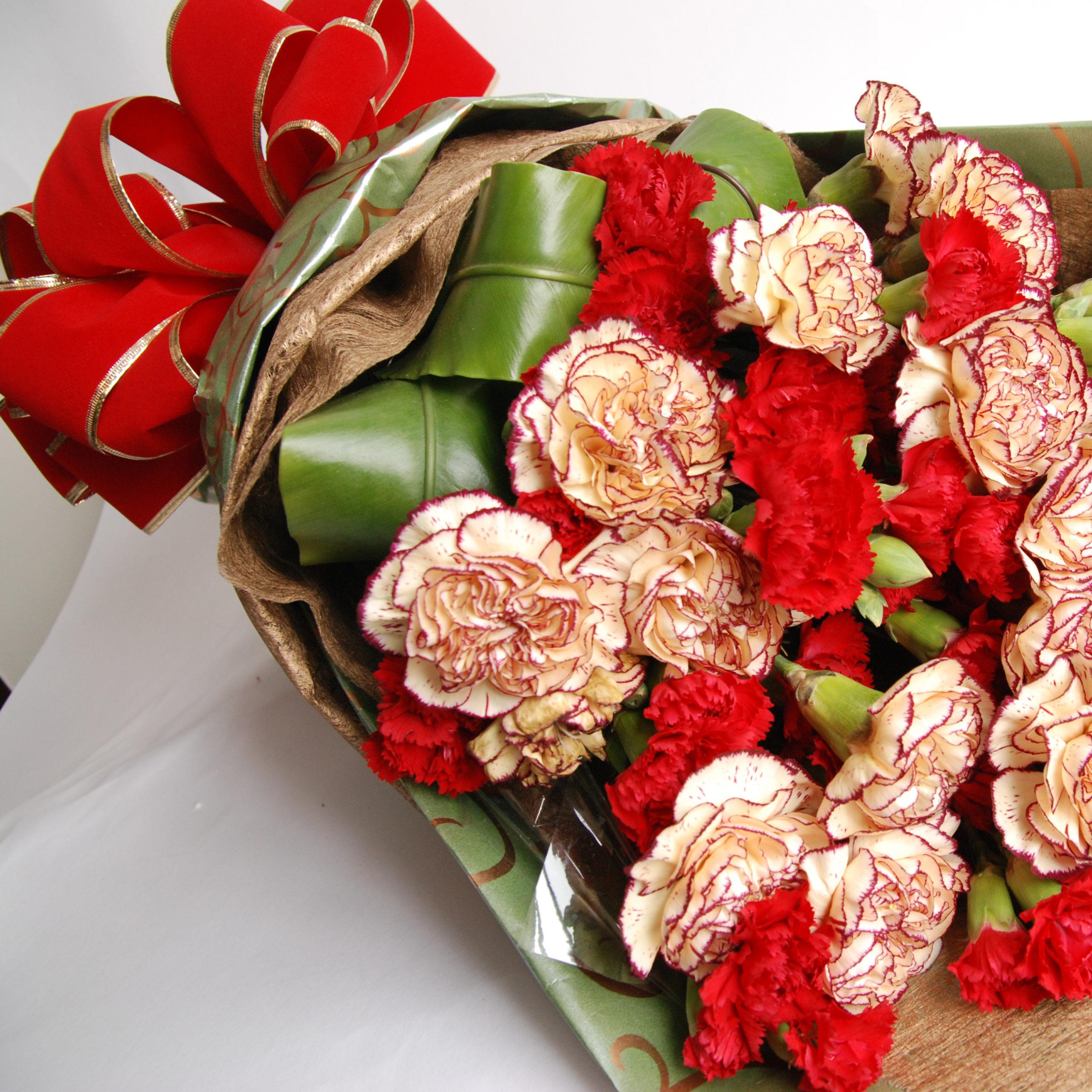 【巧繪網-FH030047滿馨歡喜】雙色康乃馨母親節花束禮物線上花店