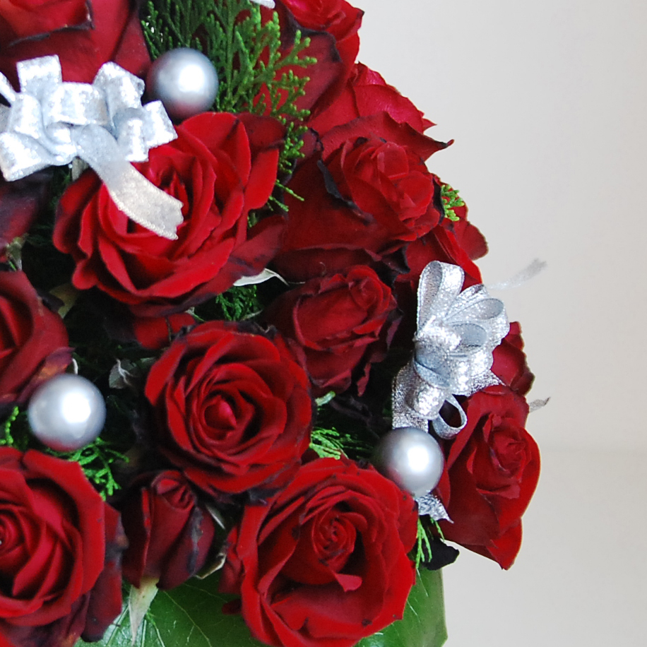 【巧繪網-TR060017玫瑰聖誕樹-大】最特別的耶誕驚喜/聖誕花束/聖誕禮物/浪漫推薦