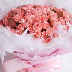 【巧繪網-FR001155 99朵粉玫瑰花束】求婚花束 七夕情人節浪漫獻禮 生日禮物