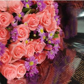 【巧繪網—網路花店】FR530138 ‧黑色浪漫=玫瑰花束‧當季新鮮花材‧傳情花束生日禮物