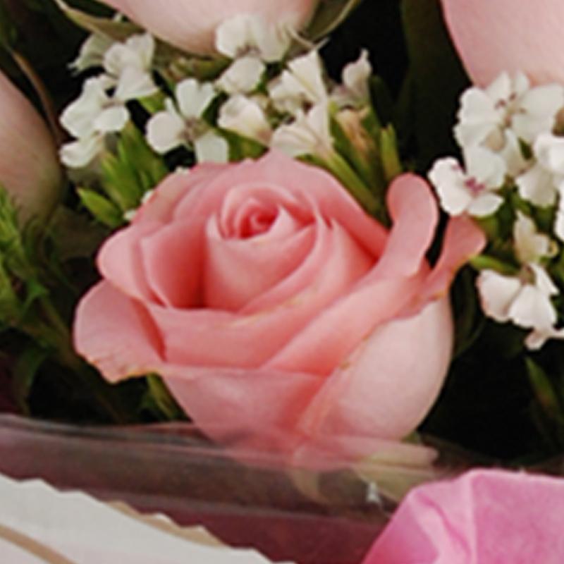 【巧繪網—浪漫花束】FR520048 網路花店‧心動=20朵粉玫瑰+當季新鮮花材