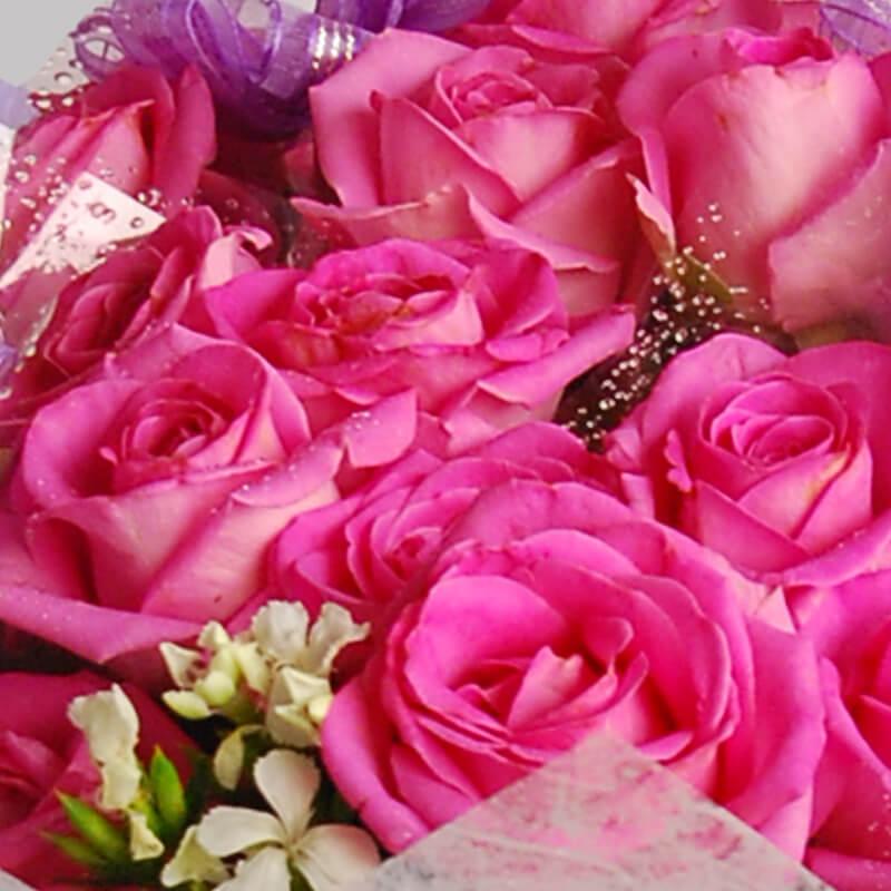 【巧繪網—嚴選畢業花束】FR540107紫想和妳在一起=紫玫瑰33朵‧師長感恩花禮