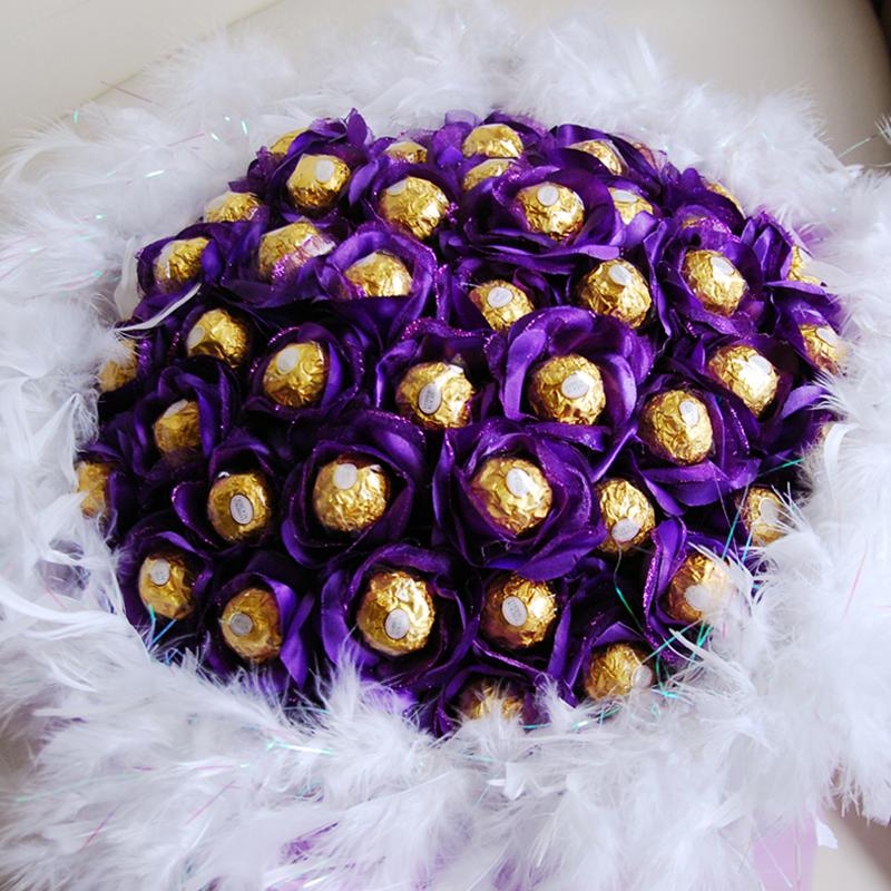 【巧繪網-G041039奢華Party】50顆金莎‧告白花束/巧克力花束/求婚花束/婚禮二次進場小物