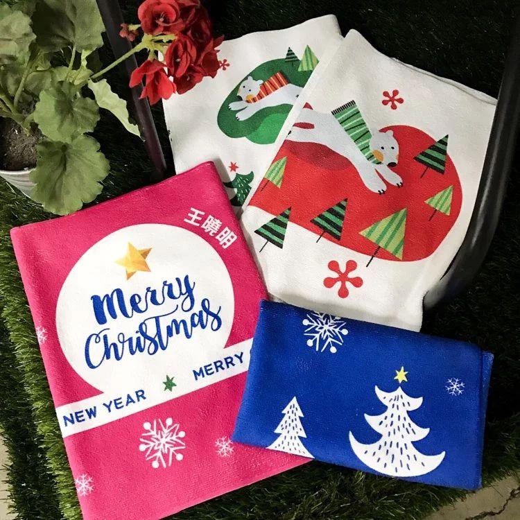 christmas-water-uptake-quick-dry-custom-towel 客製化毛巾| 超細纖維吸水毛巾| 毛巾印刷少量可做| 聖誕交換禮物首選